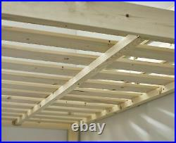 Loft Bunkbed Double 4ft 6 solid pine High Sleeper bunk bed HEAVY DUTY (EB64)