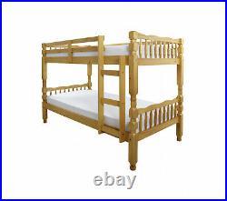 MELISSA Solid Wooden Antique Pine 3ft Single Childrens Bunk Bed Frame RRP £280