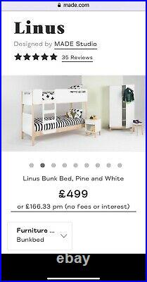 Made. Com Linus Bunk Bed With With John Lewis Mattress All In Excellant Condition
