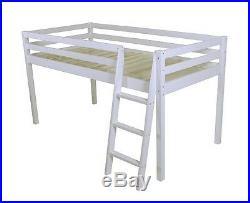 Mid Sleeper Children's Bed Cabin bed Bunk Loft Bed White Wooden Tunnel Pink 2