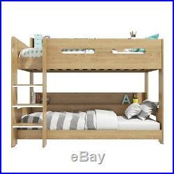 Modern Kids Oak Bunk Bed + Storage Shelves