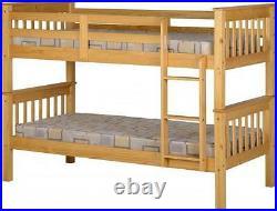 Neptune Pine Light Oak Effect Bunk Bed Bedroom Furniture