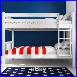 New High Quality Oxford Single Bunk Bed in White Bedroom Furniture