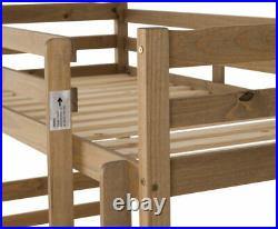 Panama 3ft Single Bunk Bed Frame in Natural Wax