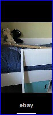 Real Wood Mid Sleeper Single Kids Bunk Bed STOMPA
