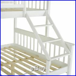 Single Double Bunk Bed Wood Solid Pine Triple Sleeper Kid Adult Bedstead Home UK