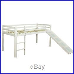 Single Sleeper Bunk Cabin Loft Bed Children Kids Slide Purple Pink Homestyle4u