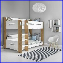 Sky Bunk Bed in White and Oak Ladder Can Be Fitted Either Side! SKY008