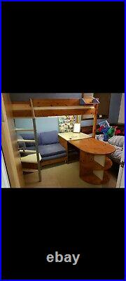 Stompa Casa High Sleeper Bunk Bed With Desk and pull out bed below