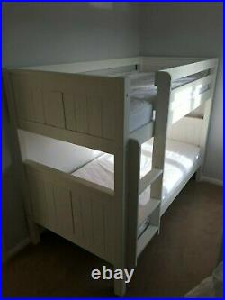 Stompa Classic Bunk Beds & 2 Mattresses White Hardly used