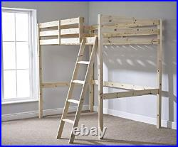 Strictly Beds and Bunks High Sleeper Loft Bunk Bed, 4ft 6 Double
