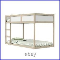 Topsy Reversible Low Bunk Bed in White and Pine Transforms into a Cabin Bed