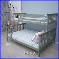 Triple Bunk Bed 3FT Single 4FT6 Double Bed Frame Kids Bed Children Adult Sleeper