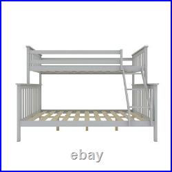 Triple Bunk Bed Frame 3ft & 4ft Pine Single Double Sleeper Children Kids Beds