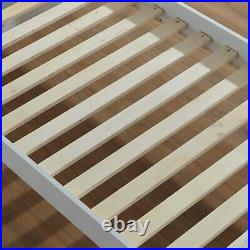 Triple Bunk Bed Wooden Frame Single Double Sleeper Children Kids Bed with Mattress