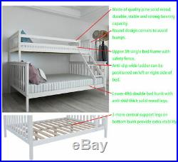 Triple Detachable Bunk Bed Children Adult Kids 3 Person Solid Pine Bed Sleeper