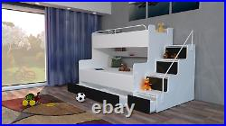 Triple Or Double Modern Bunk Bed For Child Kids Child Bedroom Boy Girl
