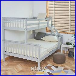 Triple Sleeper BunkBed in white or oak colour for children adult wooden frame