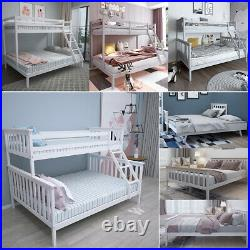 Triple Sleeper Bunk Bed / Daybed with Pull out Trundle / Double Bed Frame 3Types