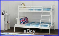 Triple Sleeper Solid Pine Wood Bunk Bed Frame 3ft/4ft6 Bedstead for Kid Adult UK