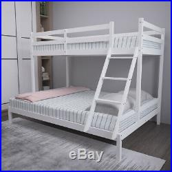 Triple Sleeper Wooden Bunk Bed Frame 3FT Single and 4FT6 Double Bed Solid Pine