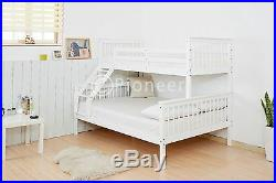 Triple sleeper bed bunk bed double bed in white or children bunk bed in pine oak