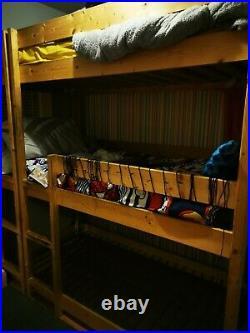 Triple sleeper bunk beds solid pine