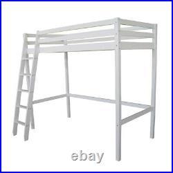 Twin Wood Loft Bed Sleeping Beds Kids High Sleeper Stairs Upper Berth Bunk Cabin