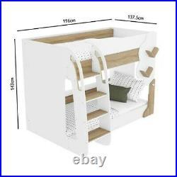 Unisex Kids Wooden Bunk Bed Furniture Boys Girls Junior Toddler Children Bedroom