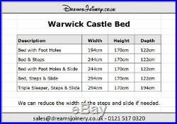 Warwick Castle, Prince or Princess Bunk, Cabin or Triple Sleeper Bed