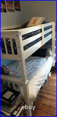 White bunk beds used