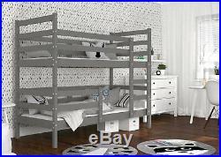 Wooden Bunk Bed JACK for Children Kids Teens + Mattresses + FREE DELIVERY